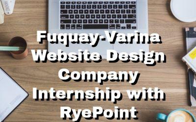 Fuquay-Varina Website Design Company Internship with RyePoint